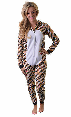 Unisex Tiger Onesie Adult Nightwear Fancy Dress Costume x 10 Joblot Diff Sizes