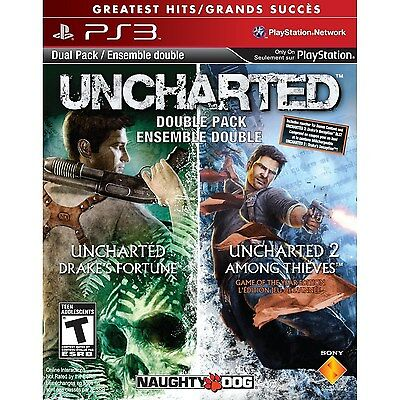 UNCHARTED Double Pack: Drake's Fortune & Among Thieves [PlayStation 3, PS3] NEW
