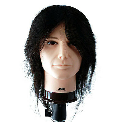 """Celebrity 20"""" Cosmetology Mannequin Head 100% Human Hair Male - Jake #658"""
