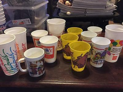RARE Lot of 13 McDONALD'S Cups~From 1977-1990