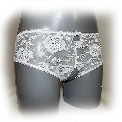 Sexy Crotchless Open Crotch Lace Thongs Ouvert XXL (971)