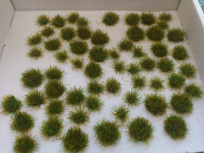 60 Assorted Sized OO/HO Autumn Tufts for Model Railway/Dioramas/Scenery !!!!!