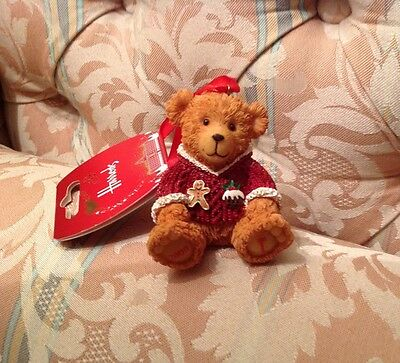 Rare Harrods Resin Teddy Bear 2009 Maxwell BNWT