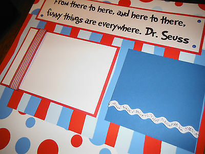 Dr. Seuss Funny Things Quote Two 12x12 Premade Scrapbook Pages 4  FAMILY