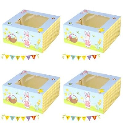 ���� Bunny Spring Cake/Cupcake Box/Boxes/Packaging Holds 4
