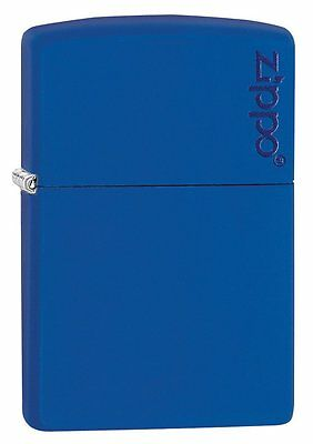 New Zippo Lighter 229Zl Royal Blue Matte Metal Design Lighter Usa Made