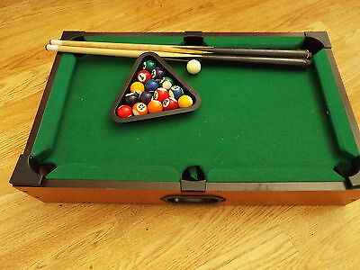 Table Top Pool Table - complete 20 x 12 x 4 inches