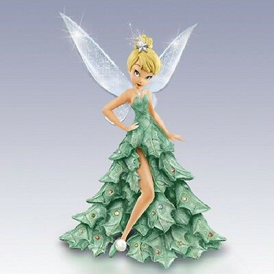 O Christmas Tink - Tinker Bell Fairy Figurine All Decked Out - Bradford Exchange