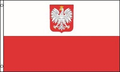 3x5 Poland with Eagle Nylon Flag Indoor Outdoor Polish National Country