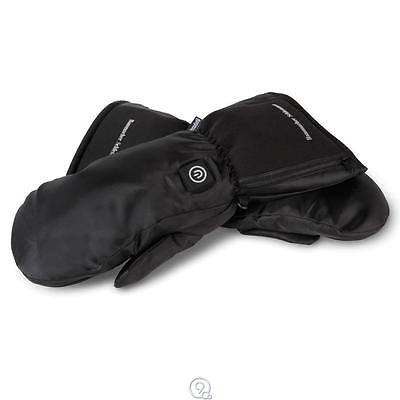 Hammacher Schlemmer Rechargeable Heated Winter Mittens Unisex Size Small S Black