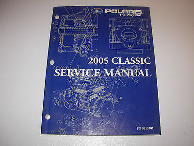 2005 Polaris 340 500 550 600 Classic Snowmobile Service Manual with CD , 9919301
