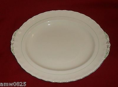 Vintage Grindley Green Line Small Oval Serving Platter Meat Plate Replacement