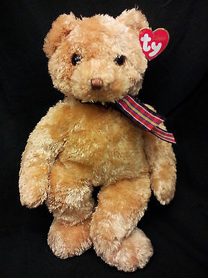 Ty Classic Bojangles Tan Golden Teddy Bear Stuffed Animal  Lovey Plush 2002 New