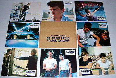 THE BOYS NEXT DOOR Maxwell Caulfield  Charlie Sheen 8 FRENCH LOBBY CARDs