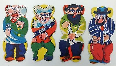 4 Vintage Japanese Astro Boy, Mighty Atom Series Character Figural Menko Cards-A