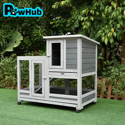 Rabbit Hutch Chicken Coop Guinea Pig Ferret Cage Hen Chook House Run Outdoor