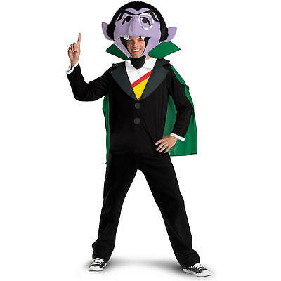 Sesame Street Men's The Count Halloween Costume - Adult Size X-Large 42-46