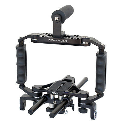 Proaim 15mm Rod Rig Camera Video Cage Kit Top Handle Grip for Sony Canon Nikon