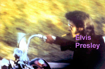 Elvis Presley On Motorcycle With Cigar Bel Air Photo Candid