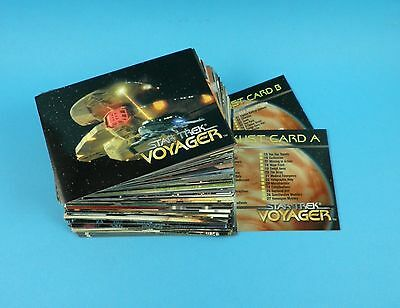 Star Trek Voyager - Complete Set of 98 Trade Cards -  Series 1 Skybox 1995