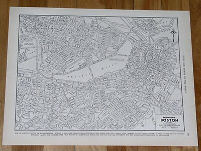 1937 City Map Of Boston / Massachusetts