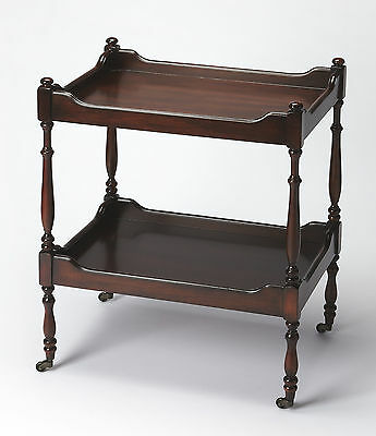 Ravenwood Manor Rolling Serving Cart - Plantation Cherry Finish - Free Shipping*