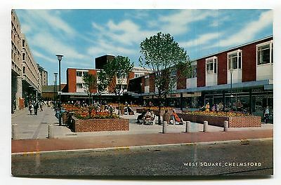 Chelmsford - West Square, shopping centre - c1970's Essex postcard