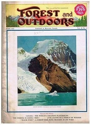 Illustrated Canadian Forest and Outdoors June 1932 Commander Bluenose