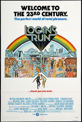 Logans Run  Laminated Mini A4 Movie Poster Jenny Agutter