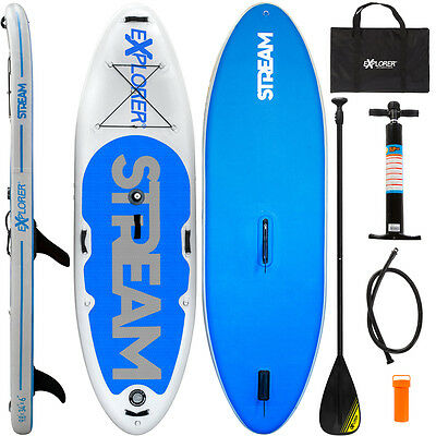 "Explorer Windsup Sup 9'8"" Stand Up Paddle Board Inflatable Pumpe Isup Aqua Surf"