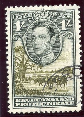Bechuanaland 1952 KGVI 1s grey-black & olive-green very fine used. SG 125a.