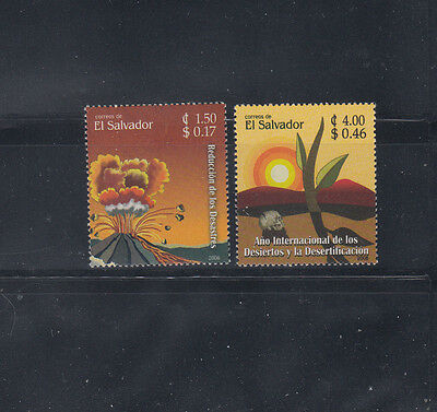El Salvador 2006 Volcanoes & Desserts  Sc 1652-1653  Mint Never Hinged