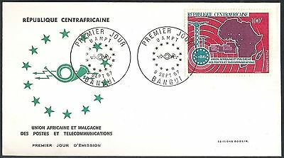 Central African Republik, 1967, African Post & Telecommunication Union, FDC