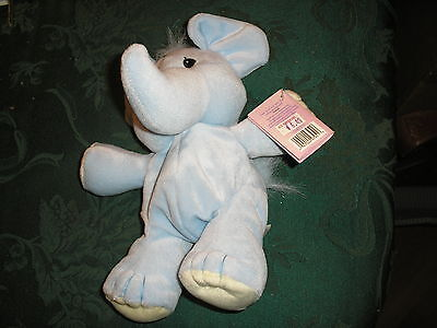 Precious Moments Tender Tails Blue Elephant w/ Tag