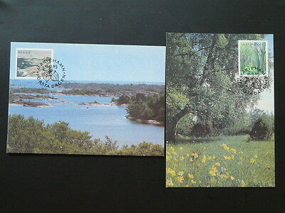 landscapes 1985 x2 maximum card Aland 70107