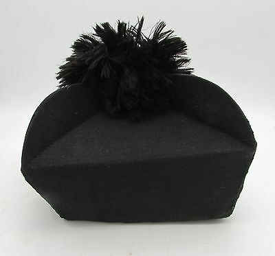 Vintage BIRETTA Vicar PRIEST Cleric c1920s Black Silk Hat J Wippell & Co England