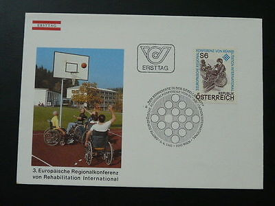 handicapped diabled people basketball FDC Austria 69917