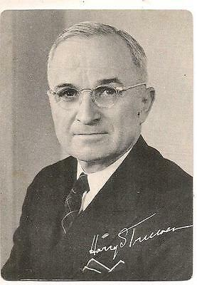 1948 Forward w/TRUMAN Democratic National Committee Authorized State Votes Card