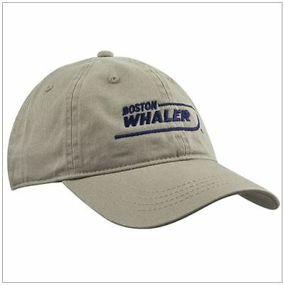 Boston Whaler Low Profile Unstructured Cotton Twill Hat Cap Khaki
