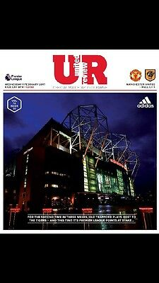 Manchester United V Hull City Official Matchday Programme 01/02/17