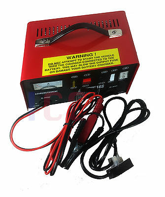 12V 24v CAR FAST CHARGE BATTERY CHARGER BOOSTER METAL CASE 12A 12Ahr GARAGE big