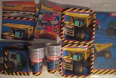 TONKA Truck & Tractor Birthday Party Supply DELUXE Kit w/ Invites & Bags