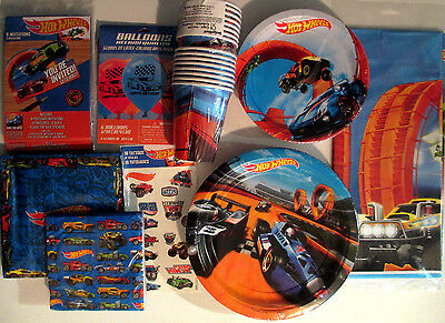 HOT WHEELS Wild Racer Birthday Party Supply SUPER Kit w/Balloons, Tattoos & More