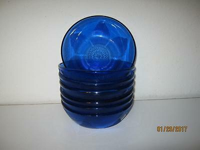 "Seven {7} Fortecrisa Mexico Cobalt Blue 6"" Cereal Bowls {Clearance}"