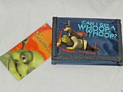 New With Tag 2004 Dreamworks Shrek 2 Trifold  Kids Wallet