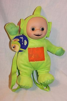 """New With Tags Teletubbies Backpack Dipsy Plush  14"""" Doll"""