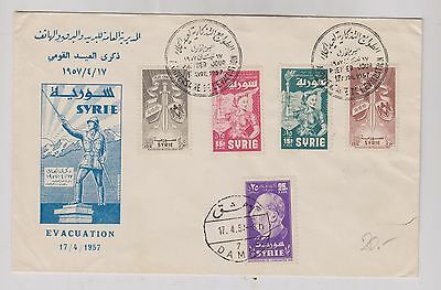 SYRIA 1957 nice FDC cover