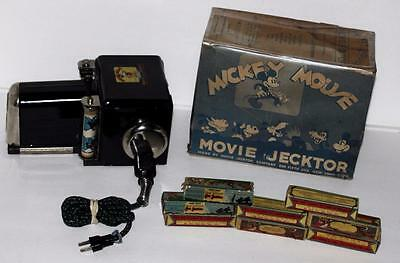 """DISNEY1930' s""""MICKEY MOUSE MOVIE JECKTOR"""" BOXED SET INCLUDING 8 BOXED FILMS+MORE"""