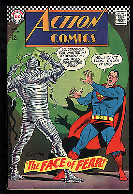 Action Comics (1938) #349 First Print Superman Mummy Supergirl Face of Fear VF-