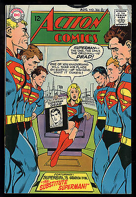 Action Comics (1938) #366 First Print Neal Adams Cover Supergirl Substitute FN+